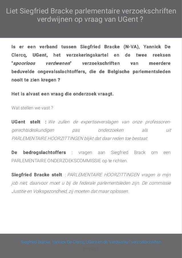 Liet Siegfriend Bracke onze parlementaire verzoekschriften verdwijnen ? Slide 2