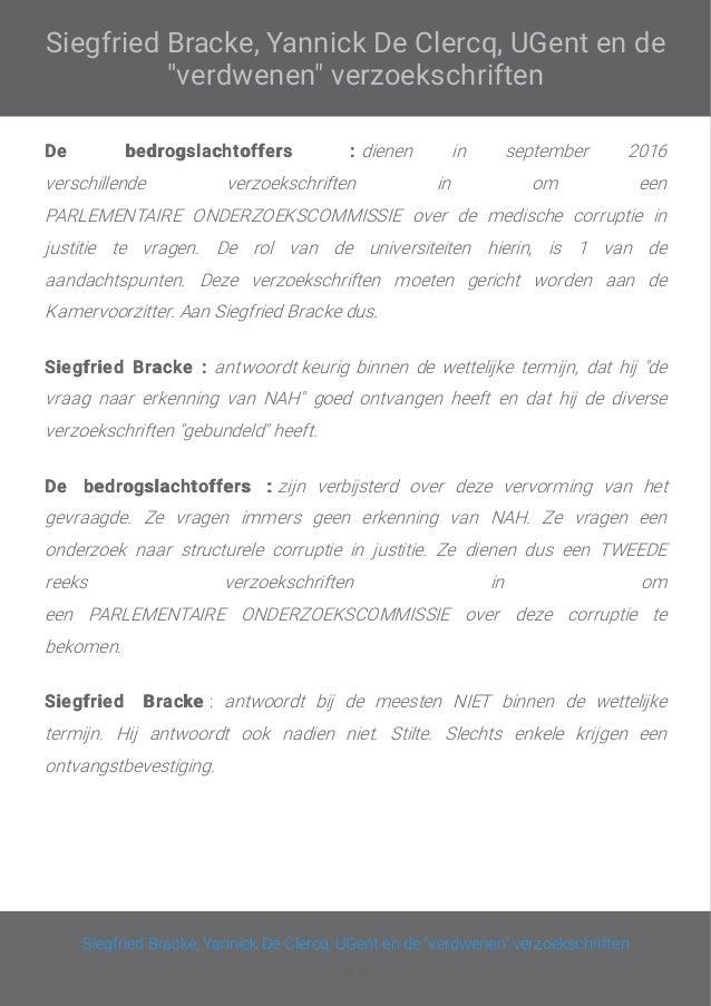Liet Siegfriend Bracke onze parlementaire verzoekschriften verdwijnen ? Slide 3