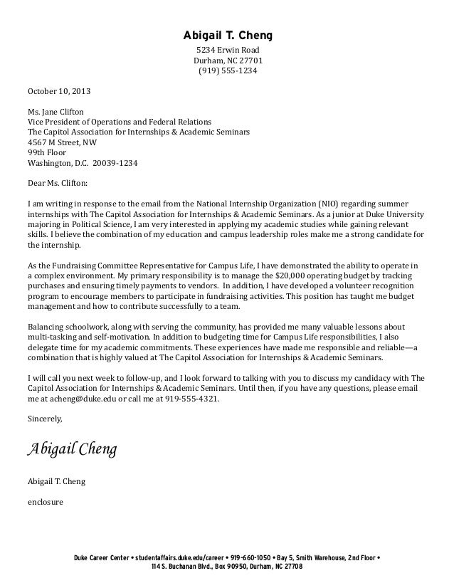College Cover Letter Sample  CityEsporaCo
