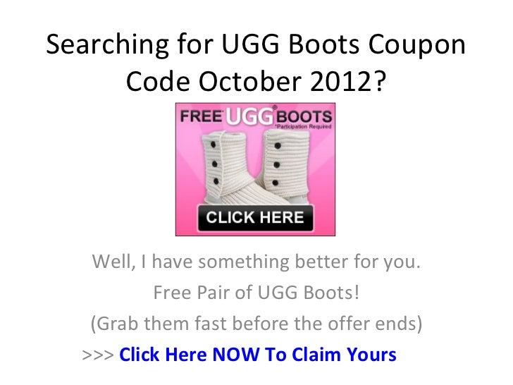 ugg coupon code october 2013
