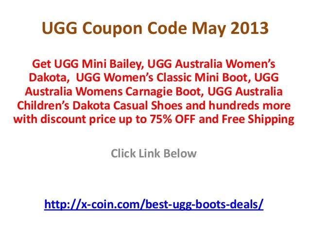 UGG Coupon Code May 2013