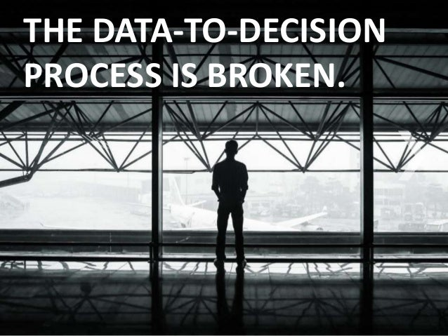 THE DATA-TO-DECISION  PROCESS IS BROKEN.