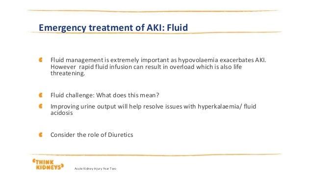 why stop diuretics in aki