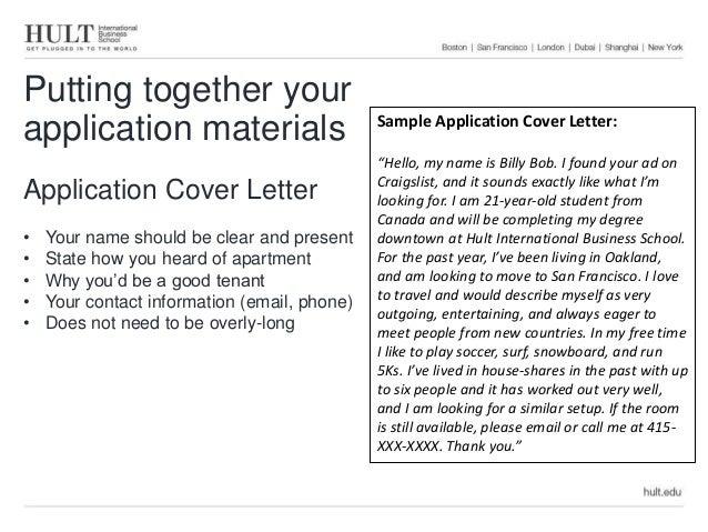 presentation letter job