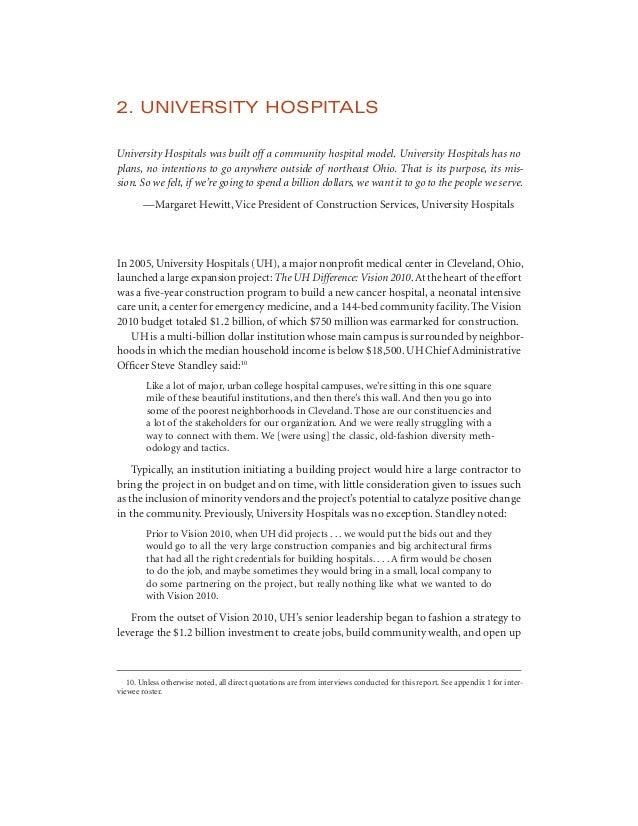 Big Ideas for Small Business: University Hospitals Anchor