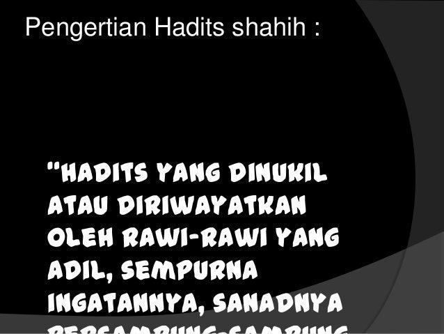 Hadits Shahih Dan Hadits Hasan