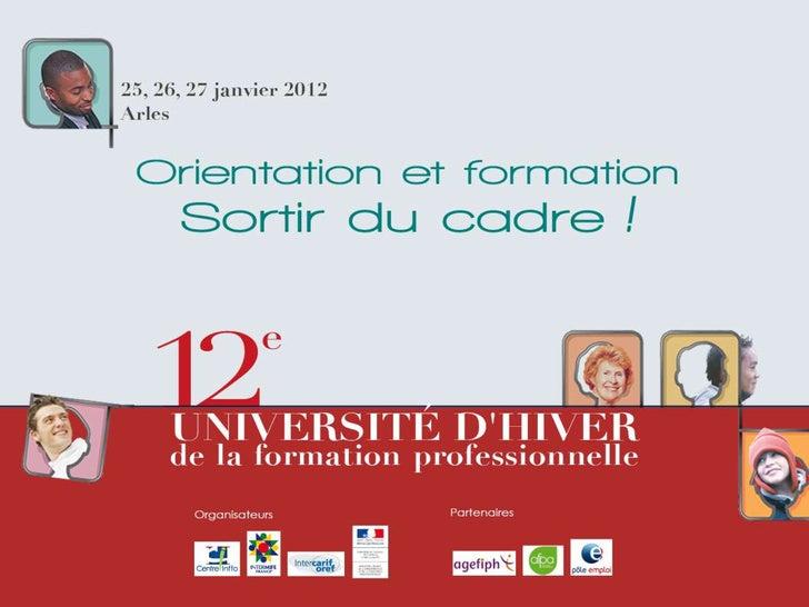 Actualité des normes françaises et internationales en formation Slide 1