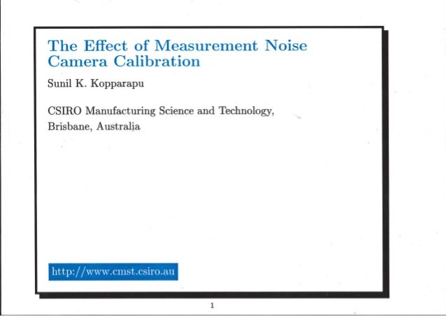 Slides camera calibration_measurement_noise