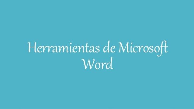 Herramientas deMicrosoft Word