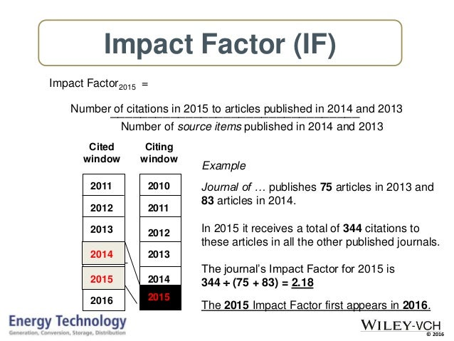 research paper impact factor