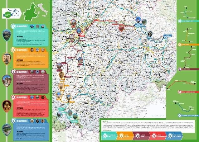 EuroVelo 8 Mediterranean Route Racconigi Abbazia di Staffarda Stupinigi Limone piemonte Villafranca Piemonte Carignano Pan...