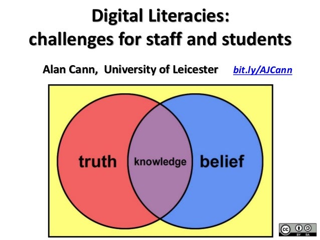 Digital Literacies: challenges for staff and students bit.ly/AJCannAlan Cann, University of Leicester
