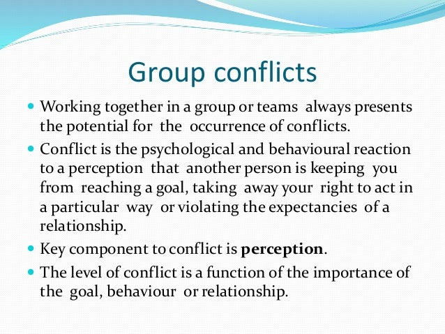 groups teams and conflict essay