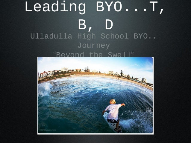 "Leading BYO...T, B, D Ulladulla High School BYO.. Journey ""Beyond the Swell"""