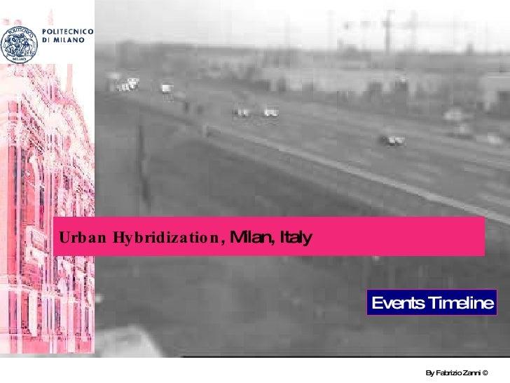 By Fabrizio Zanni ©  Urban Hybridization , Milan, Italy Events Timeline