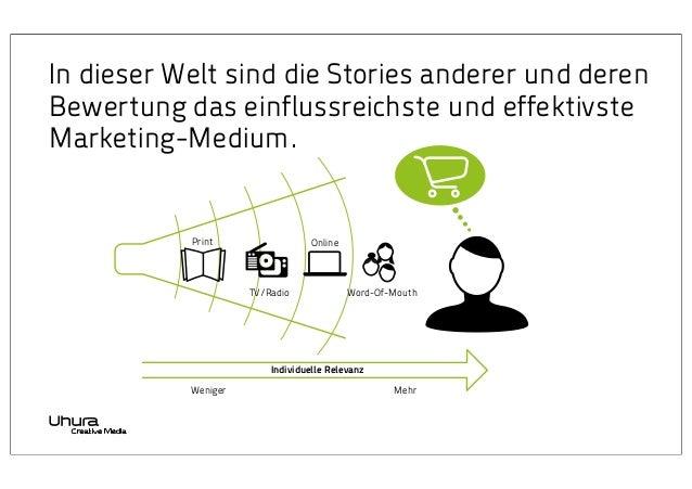 In dieser Welt sind die Stories anderer und deren Bewertung das einflussreichste und effektivste Marketing-Medium.  Print ...