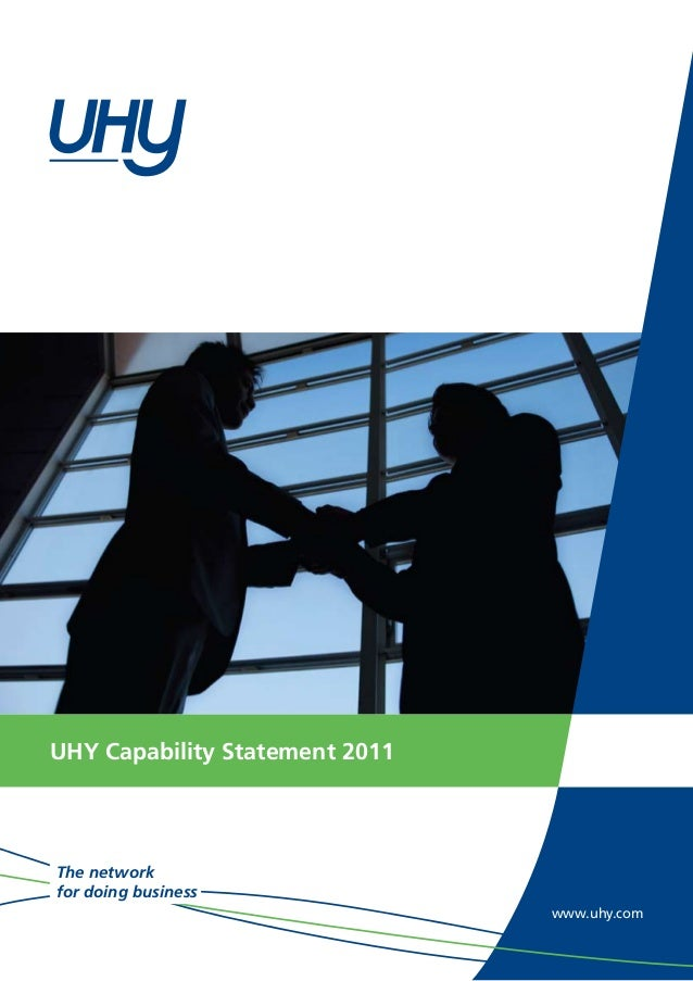 www.uhy.com The network for doing business UHY Capability Statement 2011