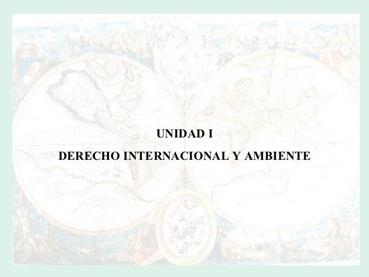 UNIDAD I DERECHO INTERNACIONAL Y AMBIENTE