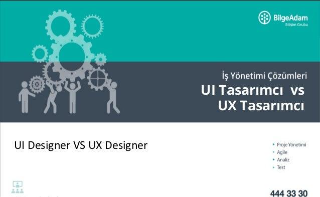 UI Tasarımcı vs UX Tasarımcı UIDesignerVSUXDesigner
