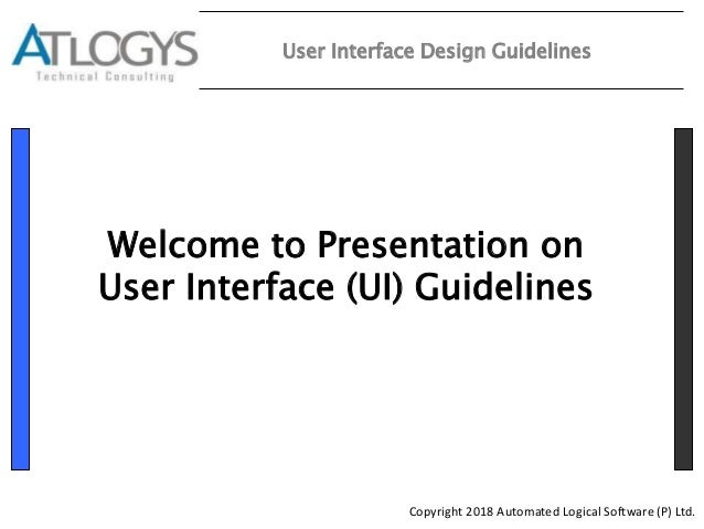 Latest Ui Guidelines For Web Apps