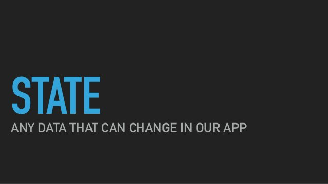 STATEANY DATA THAT CAN CHANGE IN OUR APP