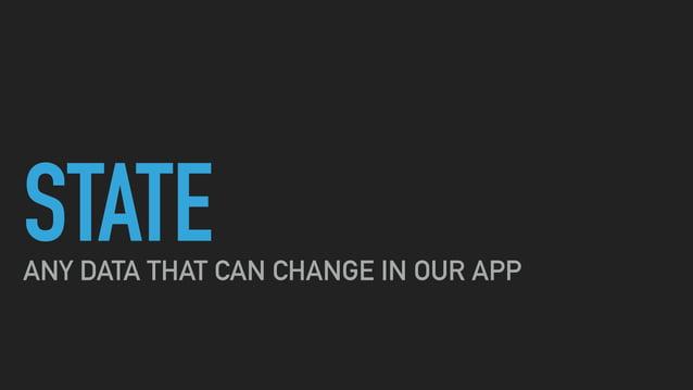 STATE EXPLICIT UI