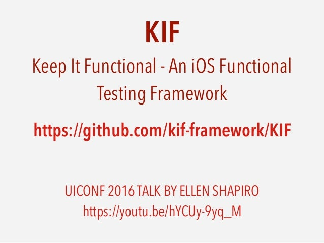 Automated UI testing for iOS apps using KIF framework and Swift
