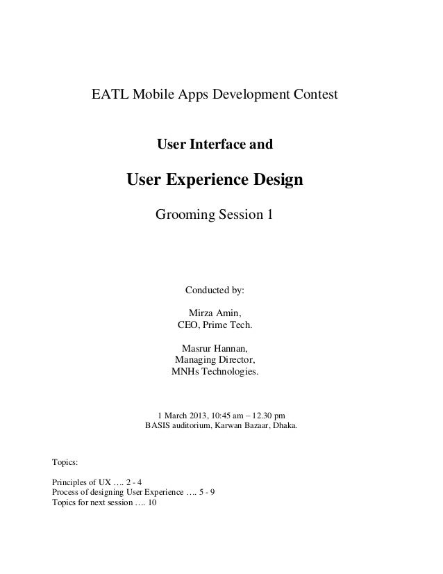 EATL Mobile Apps Development Contest                             User Interface and                    User Experience Des...