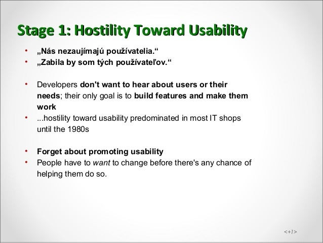 ui42 Martin Krupa WUD 2012 Stages of usability addoption at companies Slide 3