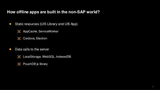 Ui5 con@Banglore - UI5 App with Offline Storage using PouchDB