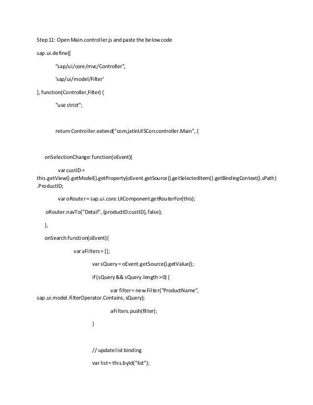 Ui5 con databinding