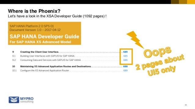 SAPUI5 in SAP HANA XSA - SAP Full-Stack JavaScript Development, UI5co…
