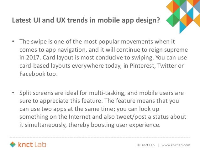 UI and UX Trends in Mobile App Design