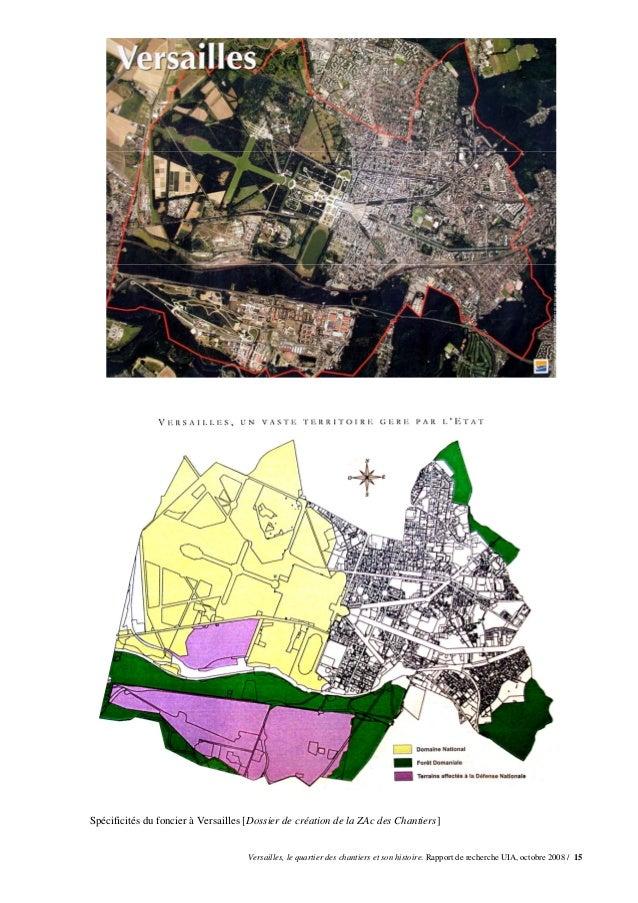 Spécificités du foncier à Versailles [Dossier de création de la ZAc des Chantiers]                                     Ver...