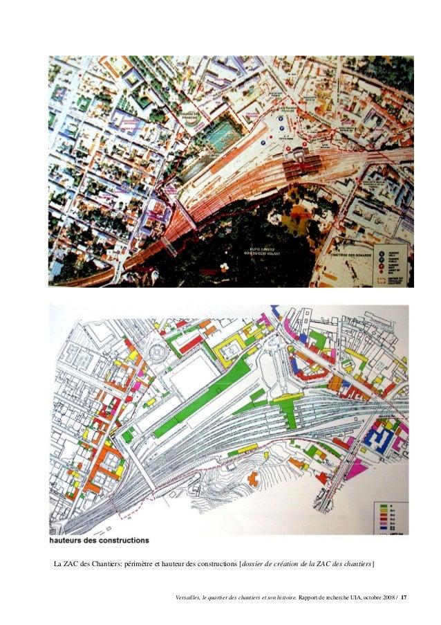 La ZAC des Chantiers: périmètre et hauteur des constructions [dossier de création de la ZAC des chantiers]                ...
