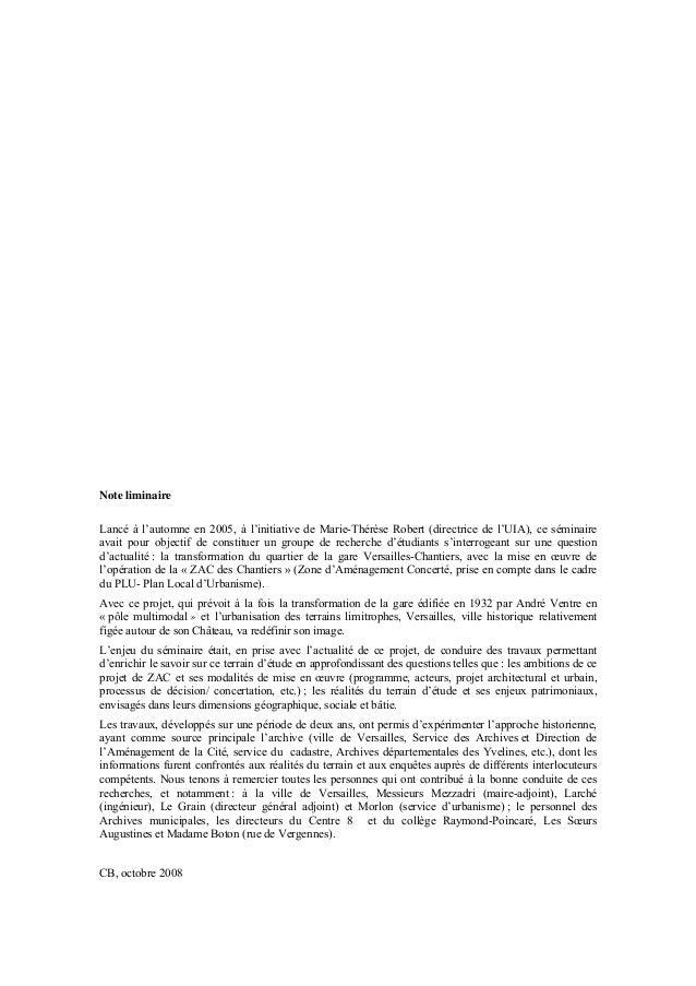 Note liminaireLancé à l'automne en 2005, à l'initiative de Marie-Thérèse Robert (directrice de l'UIA), ce séminaireavait p...