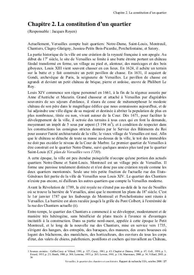 Chapitre 2. La constitution d'un quartierChapitre 2. La constitution d'un quartier(Responsable : Jacques Royen)Actuellemen...