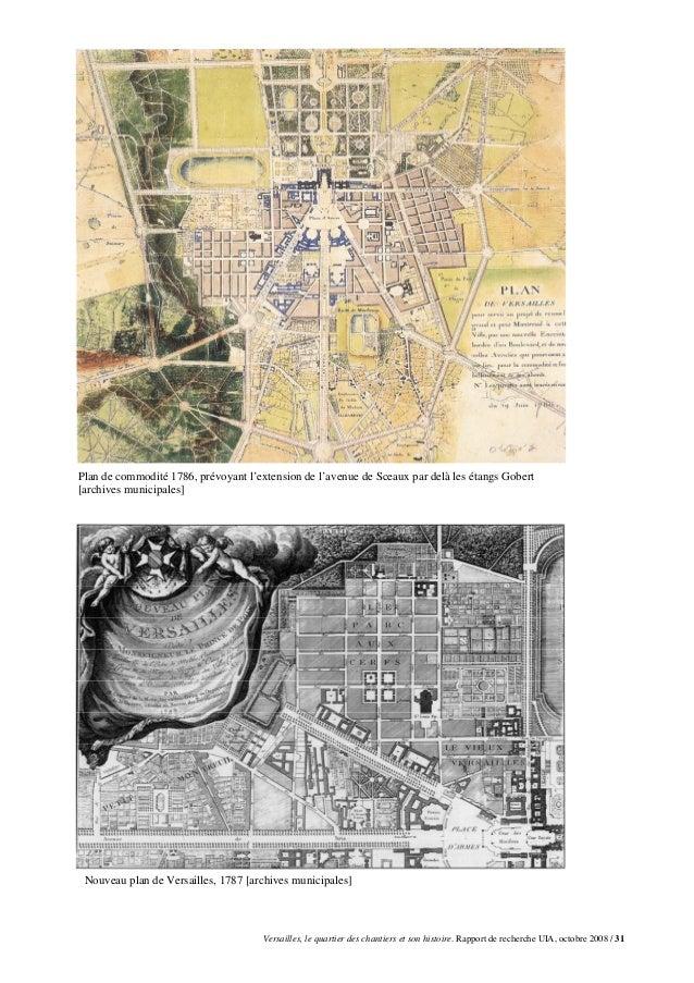 Plan de commodité 1786, prévoyant l'extension de l'avenue de Sceaux par delà les étangs Gobert[archives municipales] Nouve...