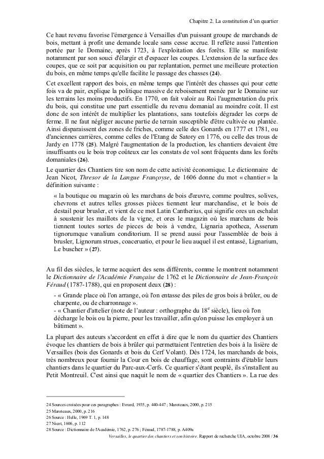 Chapitre 2. La constitution d'un quartierCe haut revenu favorise lémergence à Versailles dun puissant groupe de marchands ...