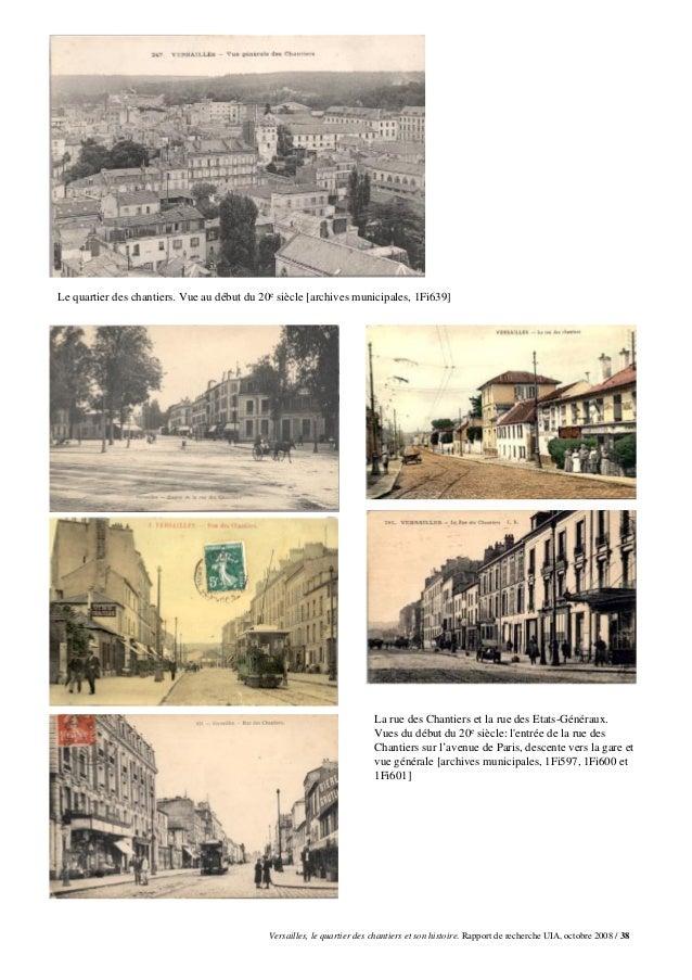Le quartier des chantiers. Vue au début du 20e siècle [archives municipales, 1Fi639]                                      ...