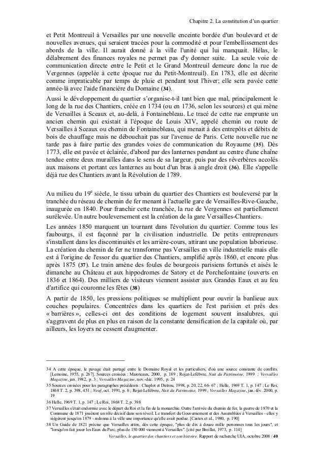 Chapitre 2. La constitution d'un quartieret Petit Montreuil à Versailles par une nouvelle enceinte bordée dun boulevard et...