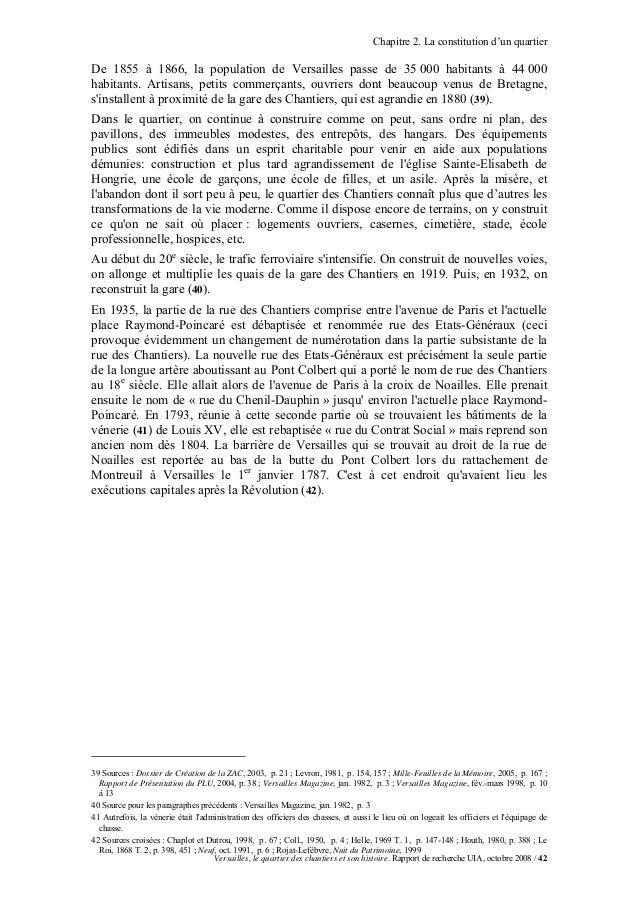 Chapitre 2. La constitution d'un quartierDe 1855 à 1866, la population de Versailles passe de 35 000 habitants à 44 000hab...