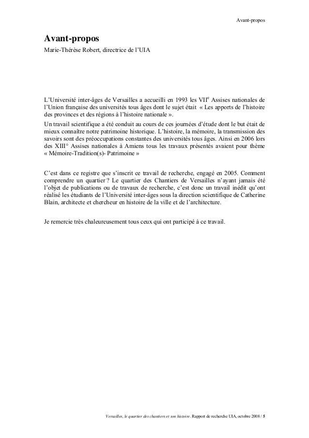 Avant-proposAvant-proposMarie-Thérèse Robert, directrice de l'UIAL'Université inter-âges de Versailles a accueilli en 1993...