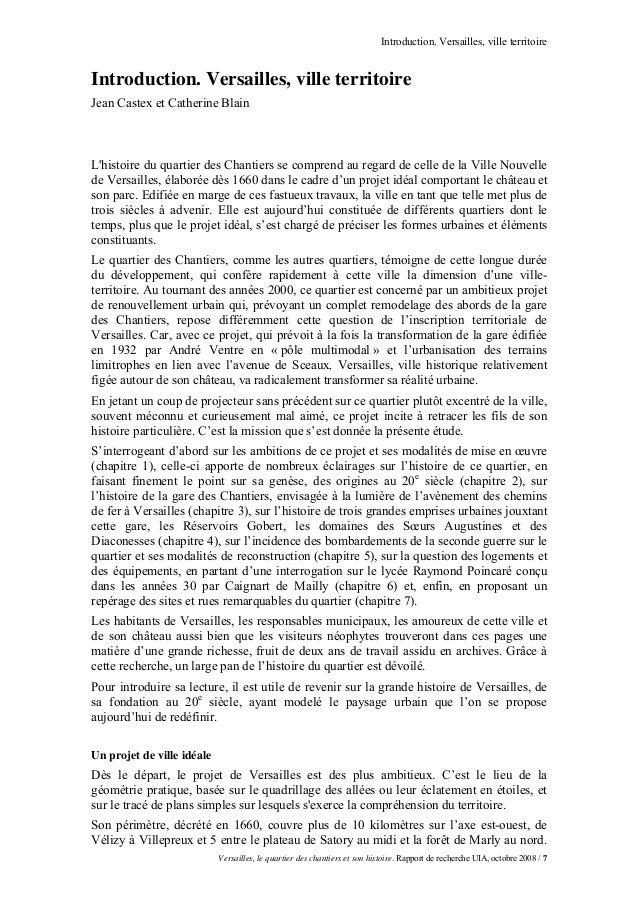 Introduction. Versailles, ville territoireIntroduction. Versailles, ville territoireJean Castex et Catherine BlainLhistoir...