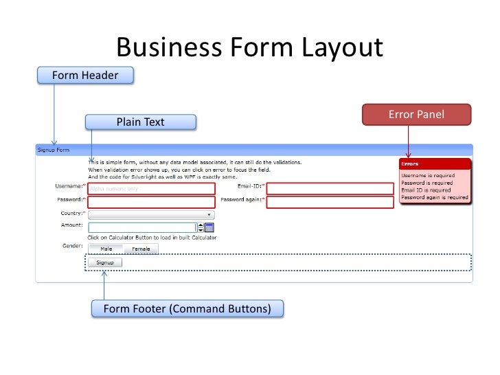 UI Atoms LOB Business Form Layout for WPF Silverlight – Business Form