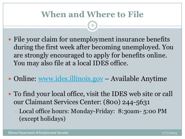 Unemployment Basics from IDES
