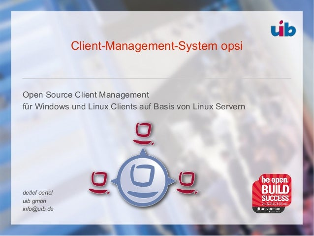 Client-Management-System opsi Open Source Client Management für Windows und Linux Clients auf Basis von Linux Servern detl...