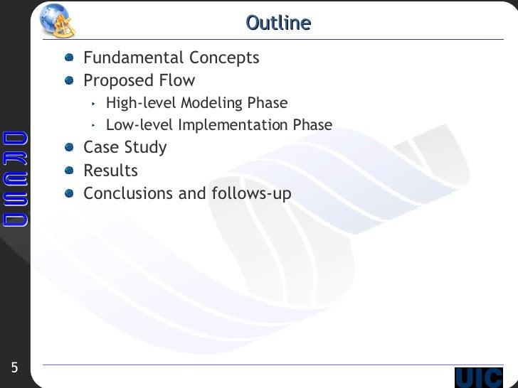 Outline <ul><li>Fundamental Concepts </li></ul><ul><li>Proposed Flow </li></ul><ul><ul><li>High-level Modeling Phase </li>...