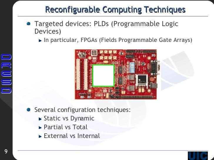 Reconfigurable Computing Techniques <ul><li>Targeted devices: PLDs (Programmable Logic Devices) </li></ul><ul><ul><li>In ...