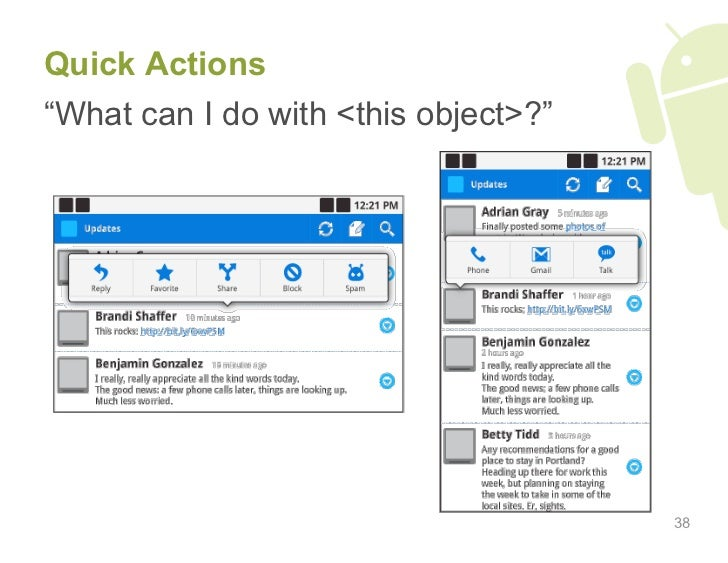 "Quick Actions ""What can I do with <this object>?""                                           38"